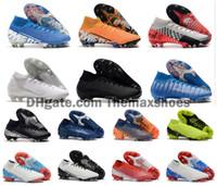 yüksek ayak bileği erkek ayakkabıları toptan satış-2019 Mercurial Superfly VII 7 360 Elite SE FG CR7 Ronaldo Neymar NJR Erkek Erkek Yüksek Bilek Futbol Ayakkabı Futbol Boots Kramponlar Boyutu 39-45
