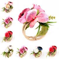 Wholesale styles mix bracelets resale online - Straw Garland Flowers Bracelet Wrist Band Party Wedding Bridesmaid Bride Colors Mix Multiple Styles Fashion jn F1