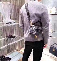 beutelriemen zum verkauf großhandel-2019 heißer verkauf christian weiblichen sattel retro satteltasche leinwand gedruckt strap handtasche hain schulter einkaufstasche