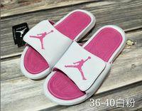 Wholesale comfortable slippers for men resale online - 2019 Brand JOR AN Summer comfortable Fashion mens flat slide casual sandals for women Slippers men shoes slippers