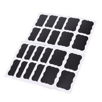 мелкая черная бумага оптовых-куча одежда Этикетка 36Pcs Черной Цена Этикетка кухня Jar Организатор Этикетка Blackboard наклейка Craft Paper Chalkboard Chalk Board наклейка G ...