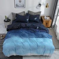 Wholesale super king size bedding sets resale online - 57 Comforter Duvet Cover Sheet Pillowcase Bedding Set Super King Queen Size Blue Solid Gradient Simple Home Textiles