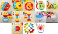 Wholesale ball bell baby resale online - 11 Style Baby Toy Fun Little Loud Bell Ball Kids Toy Rattles Develop Baby Intelligence Baby Activity Grasping Toy Hand Bell Rattle L