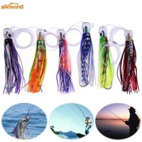 Wholesale resin head trolling lures for sale - Group buy 6pcs Marlin Tuna Trolling Lures with Mesh Bag Resin Head Trolling Skirts Lure Big Game Trolling Fishing Bait Pesca Iscas Tackle Y191029