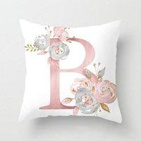 ingrosso sedile auto rosa-Nuovo colore rosa lettera Cuscino Cuscino decorativo di caso sede sofà cassa dell'automobile federa Copricuscino morbida Bed