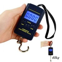 Wholesale kitchen scales hook resale online - 40Kg Digital Scales LCD Display Hanging Hook Luggage Fishing Weight Scale Household Portable Airport Electronic Scales ZZA1352