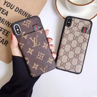 Wholesale flowered phone wallets resale online - Vegan Lattice Dual Card Slots Leather Wallet Back Cover Flower Print Holster Phone Shell for iPhone XS Max XR s Plus