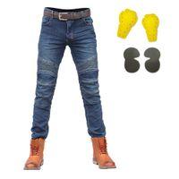 sujidade jeans venda por atacado-Homens Calças Moto Calças Motocicleta Jeans Motocross Moto Jeans Protector Riding Racing Motor Dirt Bike Calças Verão