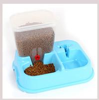 automatische hundebewässerung großhandel-Große einstellbare automatische Pet Feeder Trinkbrunnen Dog Bowl Wasserspender für Hunde Katzen Futternapf Heimtierbedarf