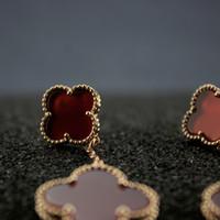 natürliche perle tropfen ohrringe großhandel-Natürliche Perlmuttfrauen Tropfen Ohrringe Designer Schmuck Luxus Frau Valentinstag Charme Hochzeit Schmuck