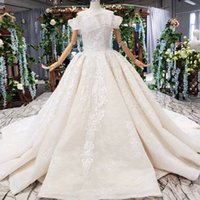 Wholesale shells training resale online - 2019 Summer Bohemian Wedding Dresses Shell Chest Boat Neck Sleeveless Backless Lace Up Back Long Lace Train Sequins Bridal Gowns Garden New