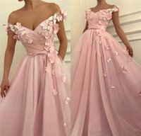 Wholesale girls size jacket for sale - Group buy 2019 Pink D Floral Cheap African Prom Dresses A Line Off Shoulder Plus Size Pearls Crystal Girls Pageant Formal Evening Party Gowns