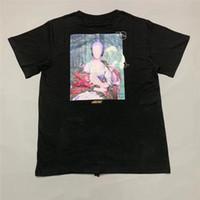 résumé t shirts achat en gros de-19SS peinture abstraite Tee Hommes Femmes 1f: 1 T-shirt Haute Qualité Style D'été T-shirts De Mode