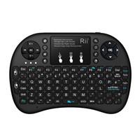 box für tabletten großhandel-Tastatur Multi Color Hintergrundbeleuchtung RII i8 2.4G Wireless Tastaturen Mini Android TV Box Fernbedienung Air Mouse und Tastatur für Tablet PC Smart TV