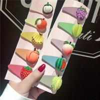 Wholesale plastic hair clips for kids resale online - Cute fruits girls hair clips fashion baby BB clips designer hair accessories for kids barrettes designer hair clips women hairclips A7139