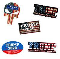 vehicle оптовых-Дональд Трамп наклейки Трамп 2020 Америка президент всеобщие выборы наклейки автомобиля Автомобиль Пастер Трамп наклейка украшения стикер стены GGA1775