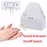 kits pop großhandel-Neue Pop Sound aktiviert Ein / Aus-Schalter Smart Home Kit Homekit von Hand klatschen 110/220 V elektronische Steuerung Gadget weiß US