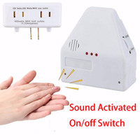 Wholesale home camera kit resale online - New Pop Sound Activated On off Switch Smart Home kit Homekit by Hand Clap V Electronic Control Gadget White US