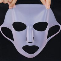 materiais japoneses venda por atacado-Silicone Hidratante Máscara Facial Rosa 1 Pacote 2WAY JAPÃO Reutilizável Limpar Transparente Máscara Silicone Material
