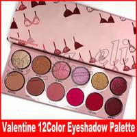 Wholesale valentines wear resale online - New Eye Makeup Valentine s Day color Eyeshadow Palette Matte Shimmer Long Lasting Bikini Printing Valentine Eye Shadows