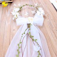 Wholesale white butterfly hair accessories resale online - Xinyun Stylish Minimalist White Flower Crown Butterfly Pearl Bridal Hair Accessories Headband Bridesmaid Headband Wedding Wreath