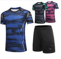 camisa modelos novos homem venda por atacado-YY 2019 homens / mulheres t-shirt novo sportswear badminton curta camisa meia manga Lin Dan fãs modelos de secagem rápida camisa do tênis calções roupas 1923