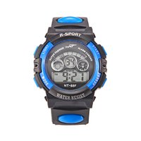 Wholesale rubber band child online - Fashion kids children students light sport led digital watches soft bands boys girls multi function alarm week gift watchesFashion mens wome
