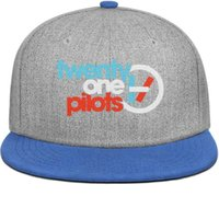 erkekler hip hop çıtaları toptan satış-Özel erkek ve bayan vizör şapkalar Yirmi Bir Pilotlar Logo Düz Kenarlı Hip Hop Snapbacks şapka Bir Boyut güneş şapka