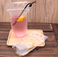 Wholesale drinking water bags for sale - Group buy New Popular ml Transparent Plastic Water Bottles Transparent Pouch Plastic Beverage Bags Summer Drink Container Fruit Juice Bag