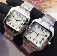 reloj deportivo blanco cuadrado al por mayor-relojes Las mujeres a estrenar famoso movimiento de cuarzo reloj del deporte clásico de acero inoxidable de alta calidad de la plata de la casilla blanca reloj de lujo