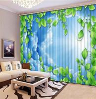 casa cortina blanca al por mayor-De manera hermoso personalizar cortinas 3D nube blanca cortinas vid nórdicos para la sala rústica decoración para el hogar