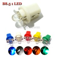 Wholesale dashboard indicators for sale - Group buy 10pcs led t5 b8 B8 D smd led Auto Wedge Dashboard Indicator Light DC V white yellow Red green blue lamps for car