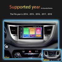 ingrosso dvd hyundai tucson gps-IPS 2.5D 2GB Ram 32GB Rom 9 pollici lettore dvd multimedia video gps per auto dvd Android 8.1 in lineetta per Hyundai nuovo Tucson 2014-2018