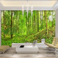 fotos natureza grande venda por atacado-Sob encomenda da foto papel de parede verde grande árvore da floresta natureza paisagem grandes murais papel de parede pintura moderna murales