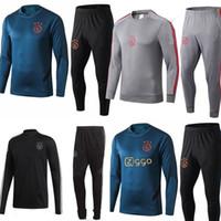 Wholesale training uniform for sale - Group buy 2019 new Ajax training suit Ajax tracksuit VAN DE BEEK DOLBERG Kluivert ajax tracksuit football uniform Size S XL