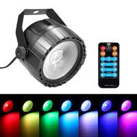 iluminación led led uv al por mayor-Disco 10W RGB UV COB LED Par Light Control remoto inalámbrico Etapa Lámpara de iluminación suave y brillante DJ DMX Luces para fiesta Bares Mostrar