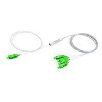 divisor de fibra óptica venda por atacado-SC APC 1X4 PLC Fibra Óptica Splitter FTTH 0.9mm SC Singlemode mini Tubo de Aço divisor óptico Frete grátis