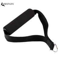 Wholesale fitness bars exercises for sale - Group buy Hot Sale Piece Resistance Band Handle Rope Bar Attachment Foam Handlebar Dip Station Fitness Tricep Exercise Gym Black