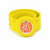 ingrosso braccialetto repellente della zanzara per i bambini-medaglione diffusore 25mm Diffusore per bambini Bracciale repellente per zanzare Bracciale con diffusore in olio essenziale con estensibile in zanzara