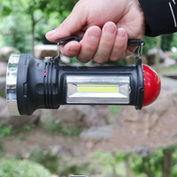 Wholesale led multi functional lights resale online - Solar Powered Flashlight Portable Lantern LED Camping Light Rechargeable Handled Torch Multi functional Flashlight for Outdoor Camping
