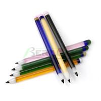 ingrosso strumenti per la formatura di unghie-7 colori di vetro opzionale Dabber matita Forma Stile Pyrex Glass Dabber Strumenti per il quarzo Banger Chiodi vetro Bong Oil Rigs