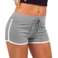 algodón spandex verano pantalones mujeres al por mayor-Mujeres Verano Pantalones Cortos de Yoga Deporte Gimnasio Entrenamiento Cintura Delgada de Algodón Elástico Pantalones Cortos de Mujer Tamaño Grande Deporte Caliente Pantalones Cortos 0.2 # 157494