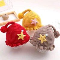 camisolas bonitos do menino venda por atacado-meninos e meninas boné chapéu do inverno malha bebê earmuffs bebê Outono chapéu e camisola bebê do inverno bonito