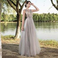 katıksız boyun döşeme uzunluğu toptan satış-5515 Yeni Gerçek Görüntü Sheer Jewel Boyun Gelinlik Modelleri Backless A Hattı Kat Uzunluk Boncuklu Örgün Akşam Durum Parti Elbiseler