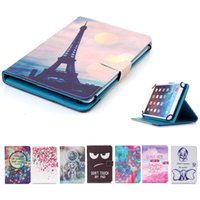 Wholesale asus memo leather case resale online - Cartoon Printed Universal inch Tablet Case for Asus Fonepad Asus Memo Pad HD7 Cases kickstand Flip Cover Cases PU Leather Bags