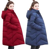 Wholesale womens warm slimming parka resale online - 4XL XL XL Plus Size Women Parkas Long Female Cotton Padded Parka Winter Coat Women Thick Warm Winter Jacket Womens Down Jacket