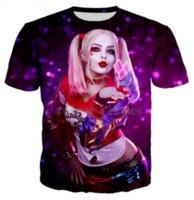 ingrosso mens del maglione del joker-Casual uomo Womans Harley Quinn Joker 3D HD Stampa T-shirt Estate a maniche corte T-shirt O-Collo Stile di modo Unisex Shirt Marca Tees RX024