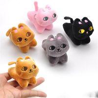 sevimli buketler toptan satış-8 CM Kawaii Kedi Peluş Anahtarlık Bebek Sevimli Dolması Hayvan Oyuncak Kolye Düğün Buket Hediye Sıcak Satış