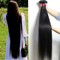 Hot selling 28 30 32 34 36 40 Inches Unprocessed Brazilian Virgin Hair Straight Bundles 10-26 Inches Body Deep Water Wave Kinky Curly Hair Extensions