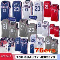 5be59bc86 Joel 21 Embiid Basketball Jerseys Philadelphia Jimmy 23 Butler 76ers Mens  Ben 25 Simmonsl Retro Mesh Allen 3 Iverson In Stock